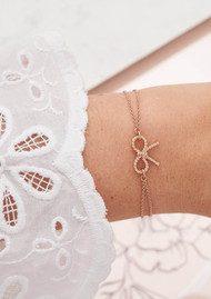 Olivia Burton Vintage Bow Chain Bracelet - Rose Gold