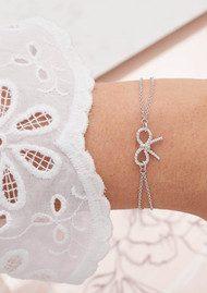 Olivia Burton Vintage Bow Chain Bracelet - Silver