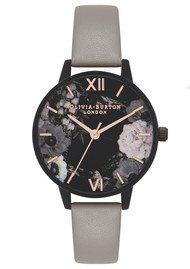 Olivia Burton After Dark Matt Black Midi Dial Watch - Grey & Rose Gold
