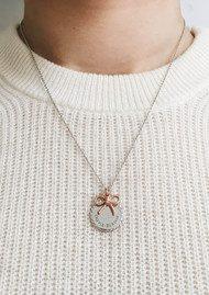 Olivia Burton Coin & Bow Necklace - Rose Gold & Silver