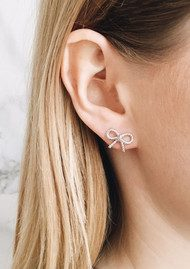 Olivia Burton Vintage Bow Earrings - Silver