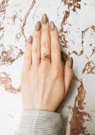 Olivia Burton Vintage Bow Ring - Rose Gold