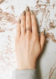 Olivia Burton Vintage Bow Ring - Silver & Rose Gold
