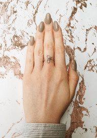 Olivia Burton Vintage Bow Ring - Silver