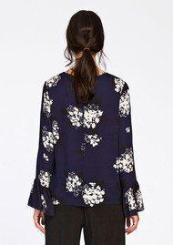 SAMSOE & SAMSOE Serena Long Sleeve Top - Florasion Bleu