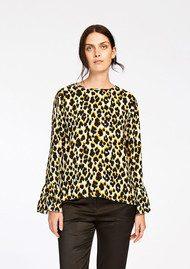 SAMSOE & SAMSOE Serena Long Sleeve Top - Leopard Jaune