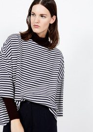 American Vintage Fassaway 3/4 Length Silk Top - Stripe
