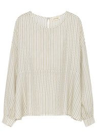American Vintage Doggywood Top - Beige Yellow Stripe