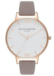 Olivia Burton Eco Friendly Big Dial White Dial Watch - Lilac & Rose Gold