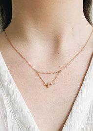 Olivia Burton Queen Bee Drop Necklace - Rose Gold