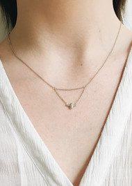Olivia Burton Queen Bee Drop Necklace - Silver