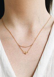 Olivia Burton Queen Bee Drop Necklace - Gold