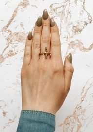 Olivia Burton 3D Bee Ring - Gold