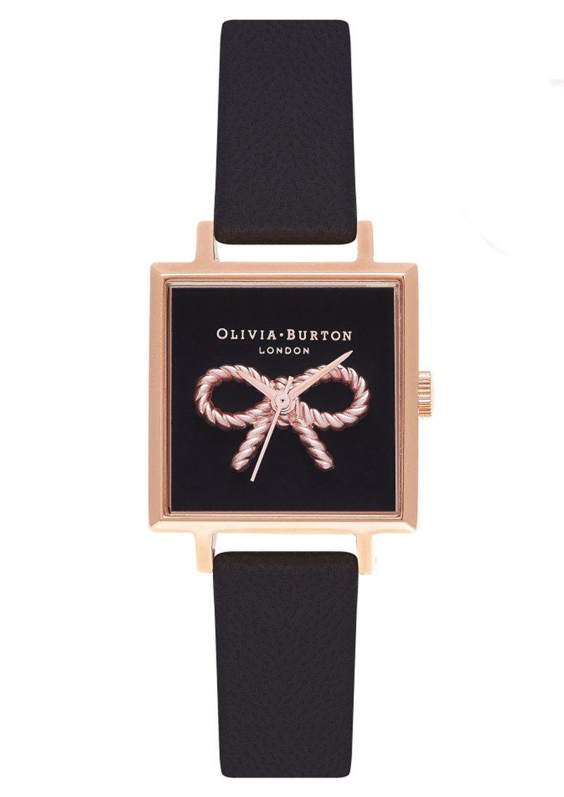 2d8efc7687a Olivia Burton Vintage Bow Watch - Black & Rose Gold main image ...