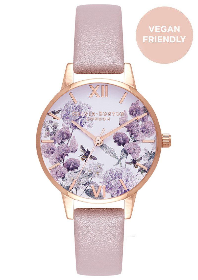 a51f006c5238 Olivia Burton Vegan Friendly Enchanted Garden Midi Watch - Rose Sand & Rose  Gold main image ...