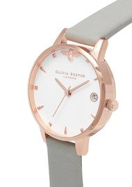 Olivia Burton Queen Bee Midi Dial Watch - Grey & Rose Gold
