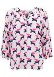 Mercy Delta Clevedon Exclusive Silk Blouse - Unicorn