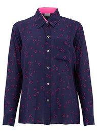 Mercy Delta Goodwood Silk Shirt - Stars Electric