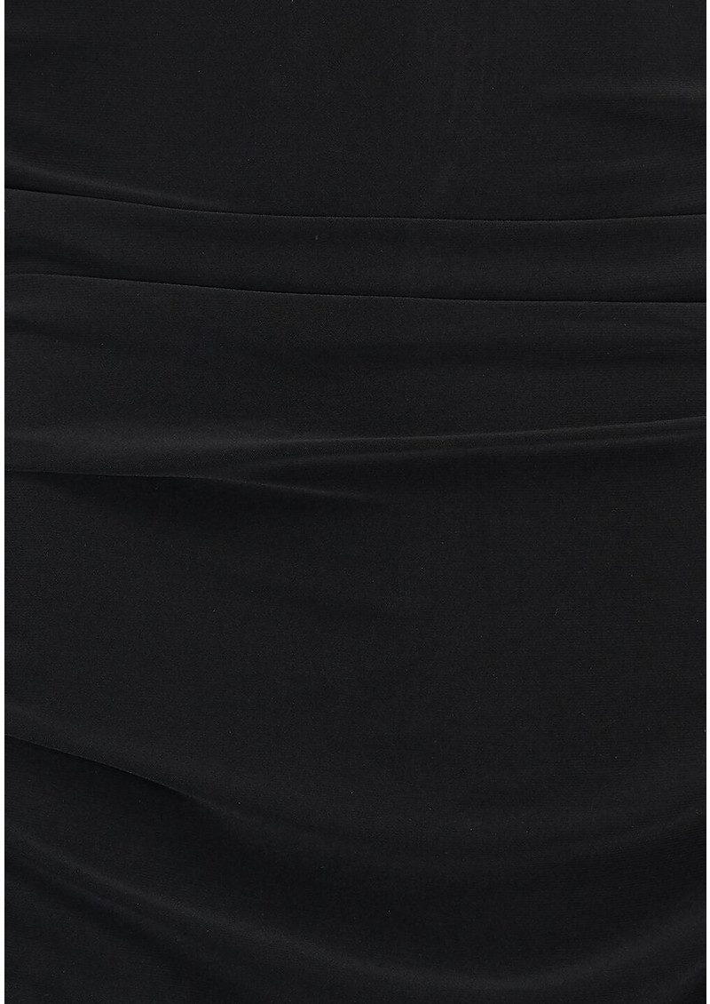 NORMA KAMALI Dolman Shirred Waist Dress - Black main image