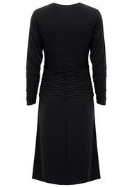 NORMA KAMALI Dolman Shirred Waist Dress - Black