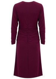 KAMALI KULTURE Dolman Shirred Waist Dress - Plum