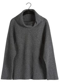 Twist and Tango Alice Turtleneck Jumper - Mid Grey