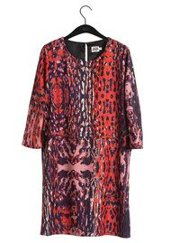 Twist and Tango Sasha Dress - Wine Leopard