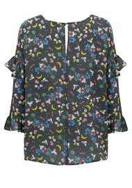 Essentiel Ockman Oversized Silk Printed Top - Combo 4 Roisin