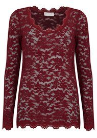Rosemunde Delicia Long Sleeve Lace Top - Cabernet