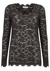 Rosemunde Delicia Long Sleeve Lace Top - Raven