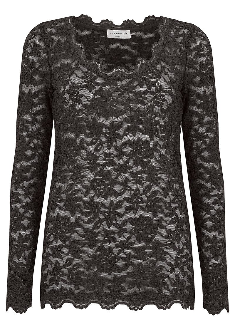 Rosemunde Delicia Long Sleeve Lace Top - Raven main image