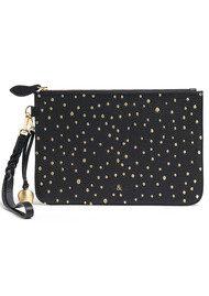 BELL & FOX Wristlet Embellished Pebble Clutch - Black