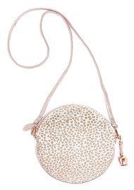 BELL & FOX Round Pony Wristlet Bag - White & Rose Gold