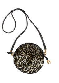 BELL & FOX Round Pony Wristlet Bag - Black & Gold