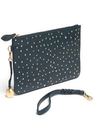 BELL & FOX Wristlet Embellished Pebble Clutch - Peacock