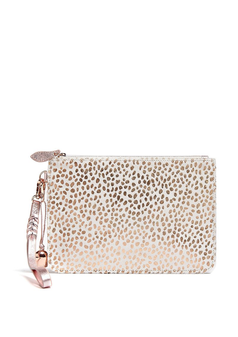 BELL & FOX Wristlet Pony Clutch - White & Rose Gold main image