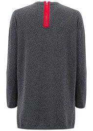 COCOA CASHMERE Velvet Zip Trim Cashmere Sweater - Ash