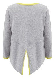COCOA CASHMERE Long Hem Boxy Cashmere Jumper - Zest & Grey