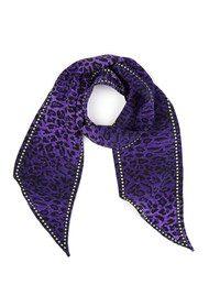 RIXO London Alexa Neck Scarf - Purple Leopard