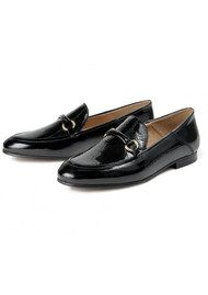 Hudson London Arianna Patent Loafer - Black