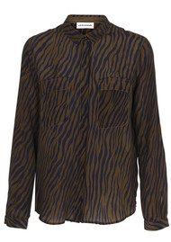 CUSTOMMADE Zilja Silk Shirt - Dark Olive