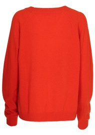 CUSTOMMADE Casja Cashmere Sweater - Cherry Tomato