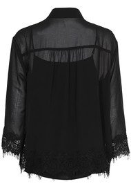 CUSTOMMADE Karrie Lace Blouse - Anthracite Black
