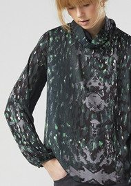 Twist and Tango Carrie Blouse - Green Leopard
