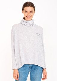 SUNDRY 'No Bad Days' Turtleneck Sweater - Heather Grey