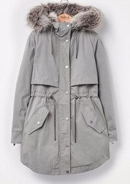 PARKA LONDON Lara 2 in 1 Parka Coat - Sage