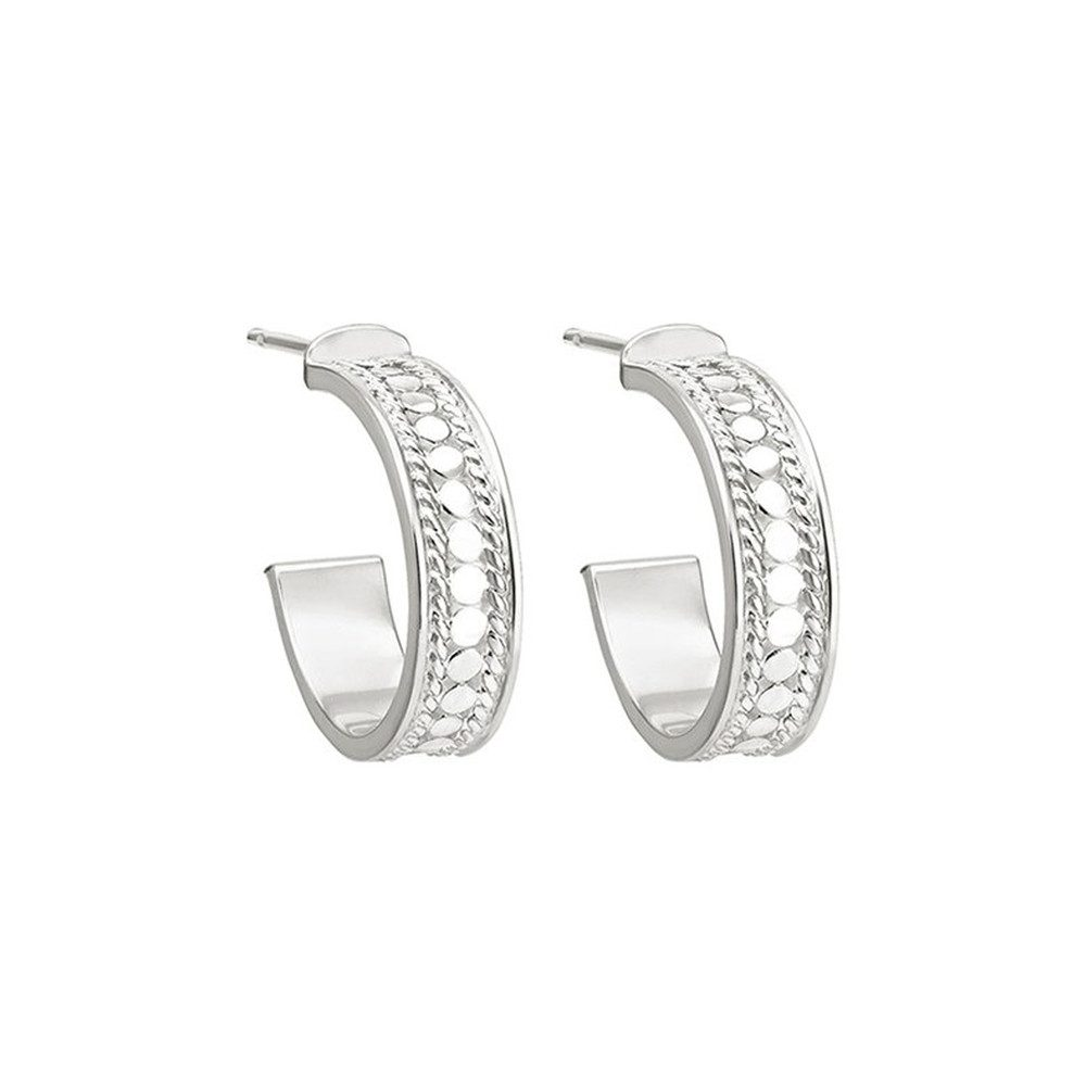Hoop Post Earrings - Silver