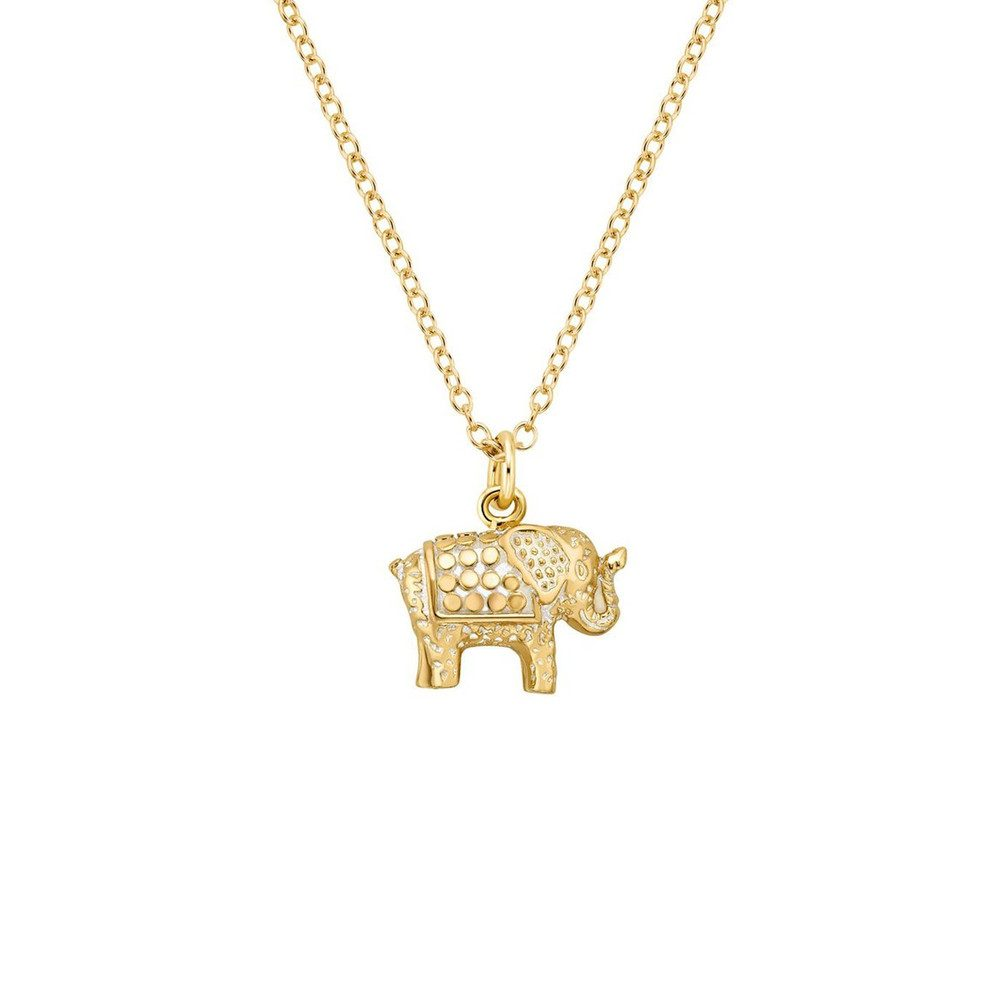 Small Elephant Charity Necklace - Gold