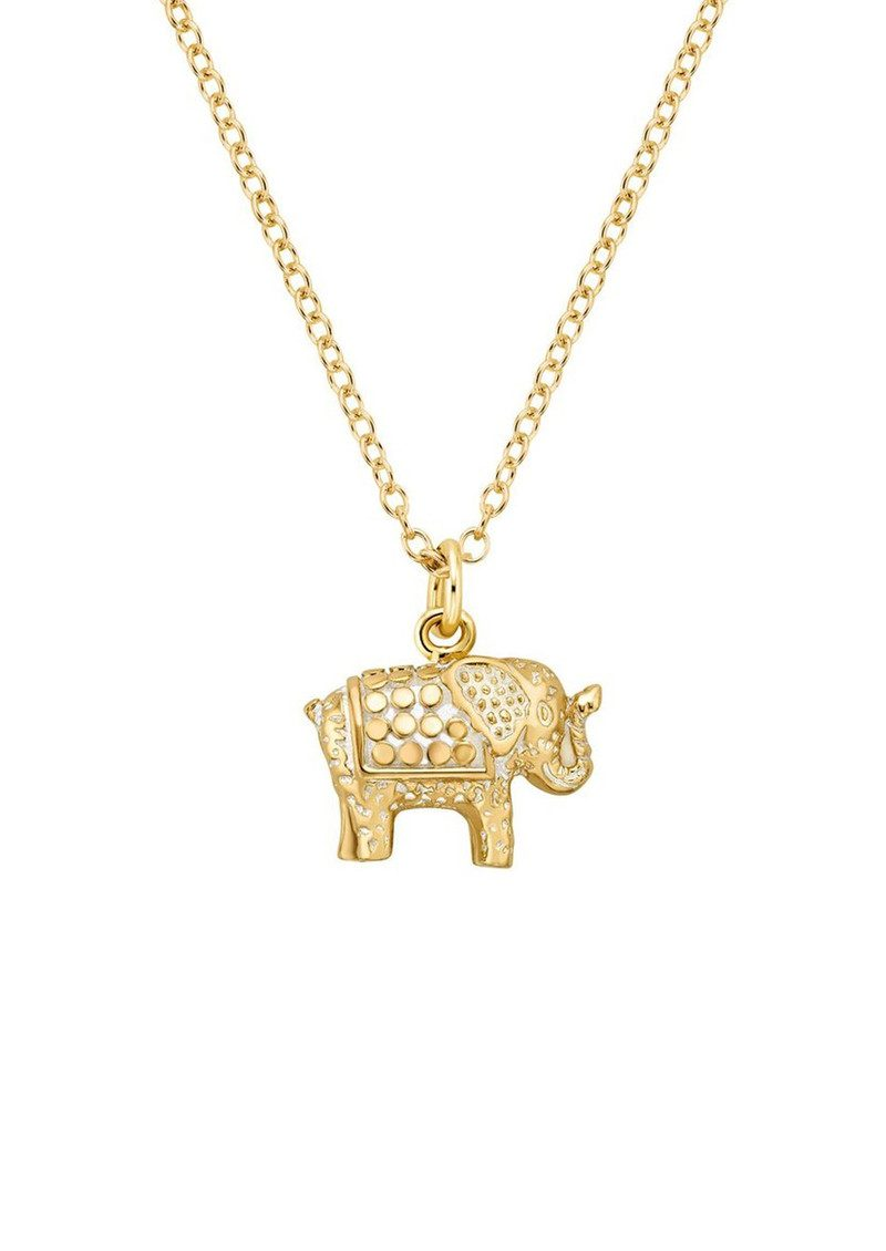 Small Elephant Charity Necklace - Gold main image