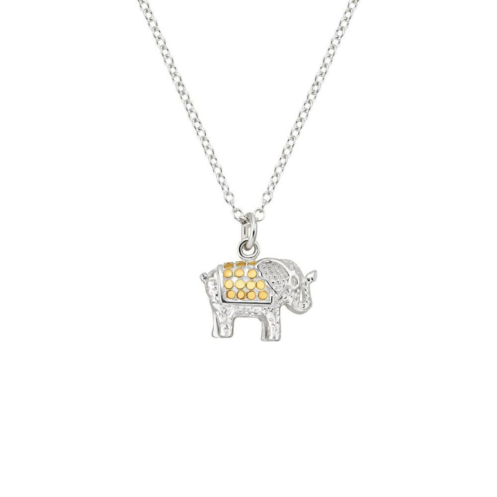 Small Elephant Charity Necklace - Gold & Silver